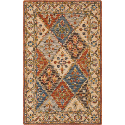 9' x 13' Geometric Brown and Beige Rectangular Area Throw Rug - IMAGE 1