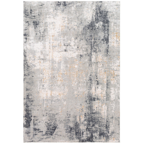 2' x 3' Distressed Gray Vintage Rectangular Machine Woven Rug - IMAGE 1