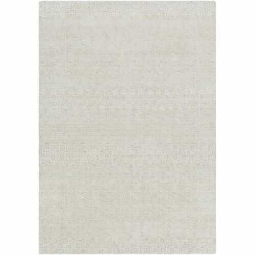 6' x 9' Contemporary Style Ivory and Gray Rectangular Area Throw Rug - IMAGE 1