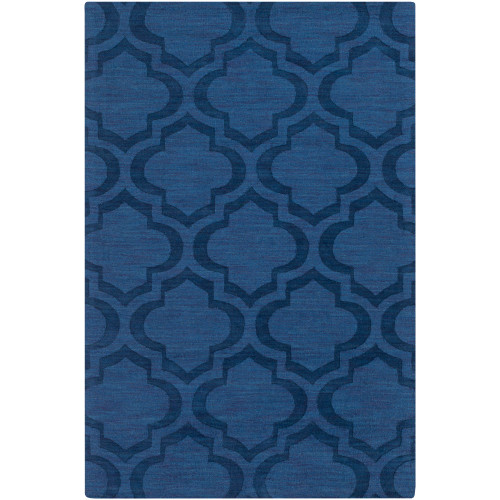 5' x 7.5' Moroccan Patterned Blue Rectangular Area Throw Rug - IMAGE 1