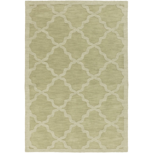 5' x 7.5' Moroccan Patterned Olive Green Rectangular Area Throw Rug - IMAGE 1