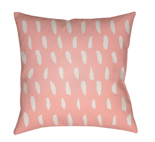 """20"""" Peach and White Square Throw Pillow Cover with Knife Edge - IMAGE 1"""