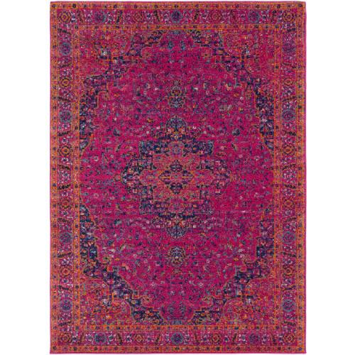 """5'3"""" x 7'3"""" Mandala Patterned Purple Rectangular Area Rug - IMAGE 1"""