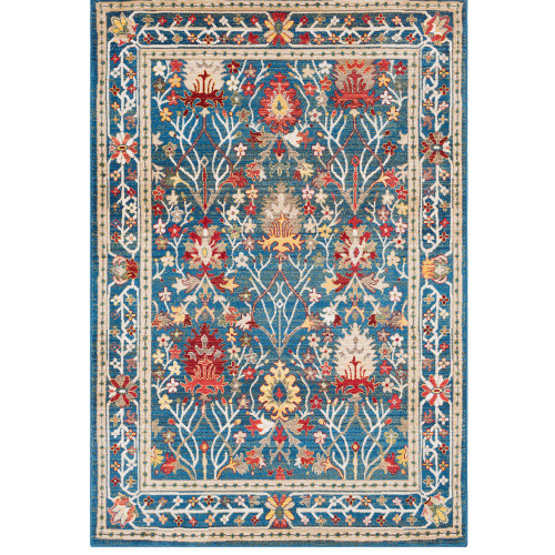 3' x 5' Vibrant Color Transitional Floral Pattern Rectangular Machine Woven Rug - IMAGE 1
