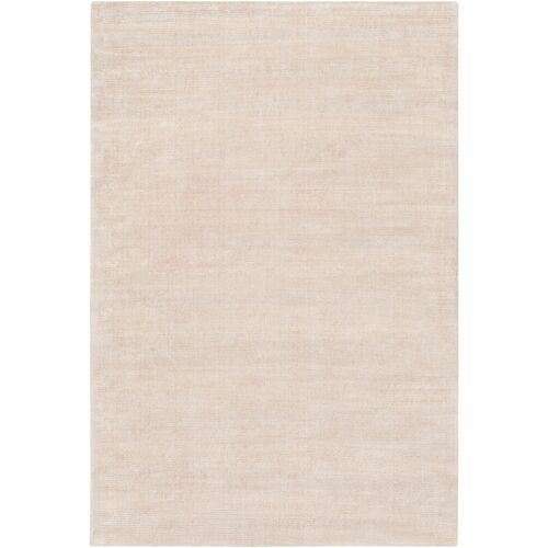 """5' x 7'6"""" Solid Patterned Gray and Beige Rectangular Hand Loomed Area Rug - IMAGE 1"""