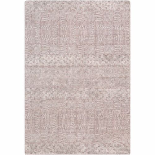 6' x 9' Contemporary Style Ivory and Pale Pink Rectangular Area Throw Rug - IMAGE 1