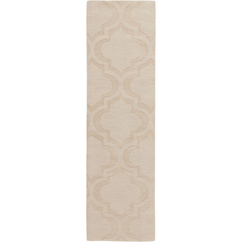 4' x 6' Moroccan Patterned Beige Rectangular Area Throw Rug - IMAGE 1