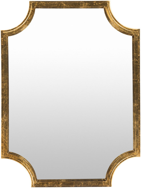 """40"""" Gilded Finish Golden Colored Rectangular Wall Mirror - IMAGE 1"""