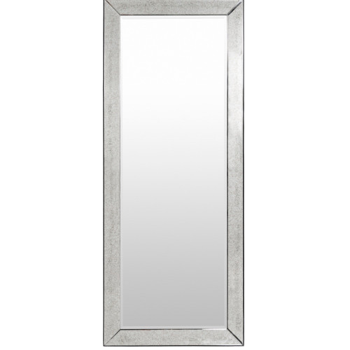 "72"" Silver Color Antiqued Glass Framed Rectangular Mirror Accent - IMAGE 1"