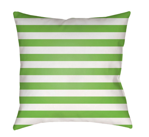 """20"""" Green and White Striped Square Throw Pillow Cover with Knife Edge - IMAGE 1"""