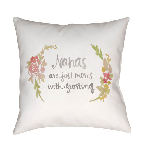 """20"""" White Printed Square Throw Pillow Cover with Knife Edge - IMAGE 1"""