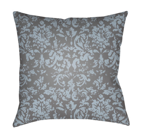 """20"""" Pale Blue and Gray Square Throw Pillow Cover with Knife Edge - IMAGE 1"""