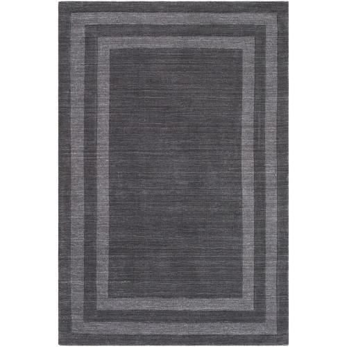 6' x 9' Charcoal Gray Rectangular Hand Tufted Area Rug - IMAGE 1