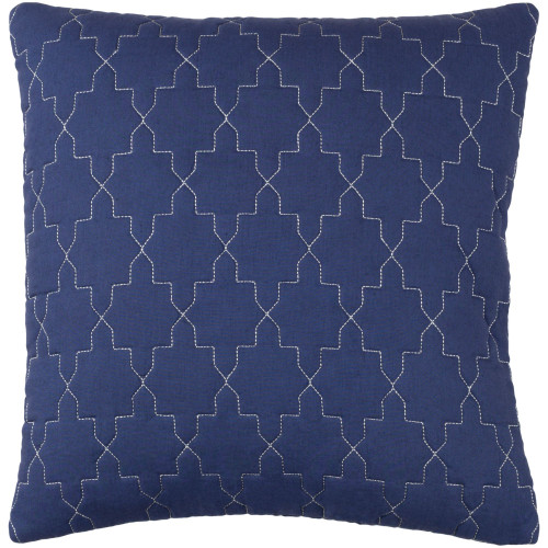 """20"""" Blue and Silver Colored Square Throw Pillow Cover - IMAGE 1"""