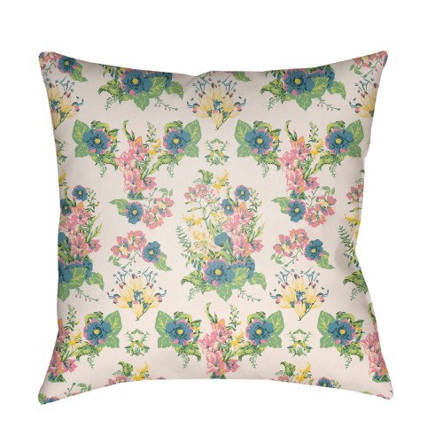 """18"""" Green and Ivory Square Throw Pillow Cover - IMAGE 1"""