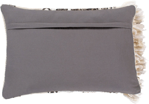 """22"""" Beige and Black Rectangular Throw Pillow Cover - IMAGE 1"""