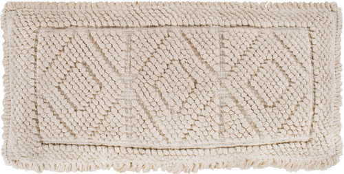 """30"""" Beige Handwoven Rectangular Throw Pillow - Poly Filled - IMAGE 1"""