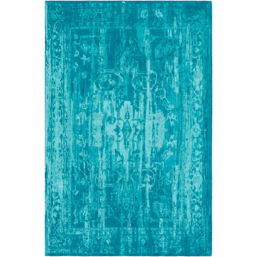 8' x 10' Abstract Style Blue Rectangular Area Throw Rug - IMAGE 1