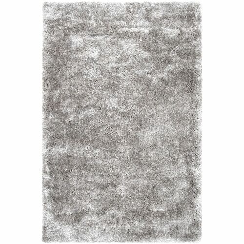 5' x 8' Abstract Patterned Gray Rectangular Area Throw Rug - IMAGE 1