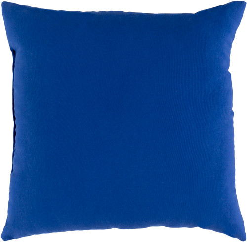 """20"""" Blue Square Throw Pillow Cover with Piping Trim - IMAGE 1"""