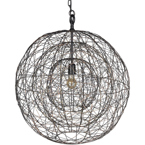 """29"""" Contemporary Style Brown Hanging Pendant Ceiling Light Fixture - IMAGE 1"""