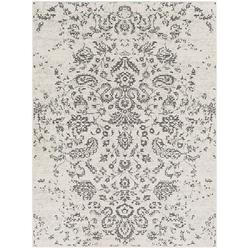 """5'3"""" x 7'3"""" Persian Paisley Beige and Dark Brown Synthetic Area Throw Rug - IMAGE 1"""