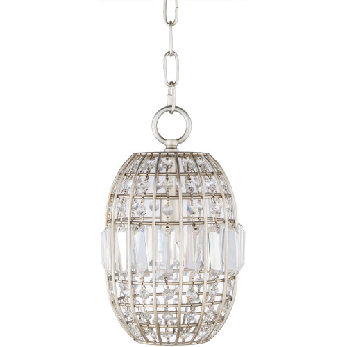 """11.5"""" Clear Crystal Hanging Pendant Ceiling Light Fixture - IMAGE 1"""