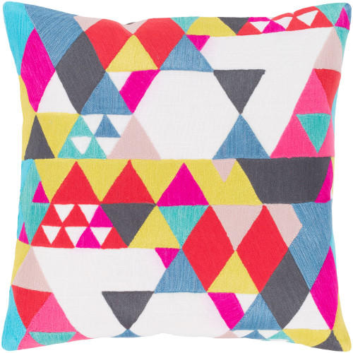 """22"""" Vibrantly Colored Modern Square Throw Pillow Cover - IMAGE 1"""