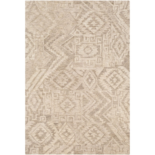 8' x 10' Contemporary Brown and Beige Rectangular Area Throw Rug - IMAGE 1