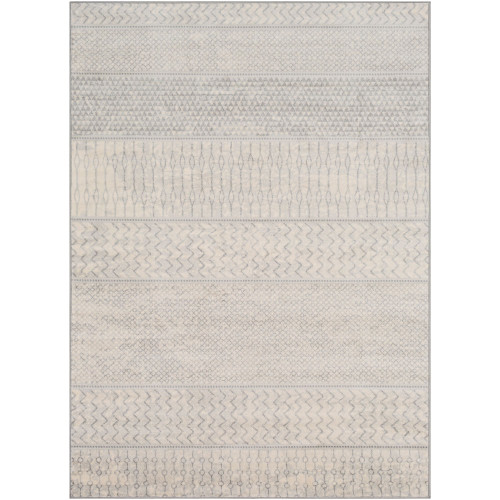 4.25' x 5.9' Contemporary Patterned Gray Rectangular Area Throw Rug - IMAGE 1