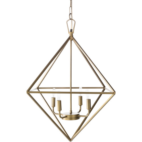 """29"""" Contemporary Style Gold Colored Hanging Lantern Ceiling Light Fixture - IMAGE 1"""