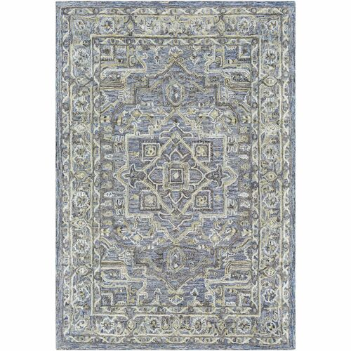 4' x 6' Traditional Style Violet and Sage Green Rectangular Area Throw Rug - IMAGE 1