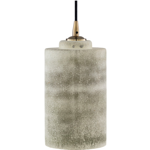 """11"""" White and Gray Antiqued Finish Hanging Pendant Ceiling Light Fixture - IMAGE 1"""