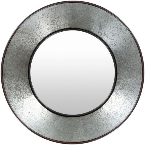 "32"" Contemporary Style Silver Colored Circular Wall Mirror - IMAGE 1"