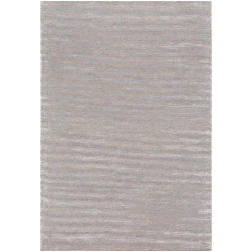 5' x 7.5' Striped Pattern Gray and White Rectangular Area Throw Rug - IMAGE 1