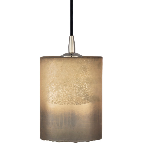 "8"" Ivory and Gray Antiqued Style Glass Hanging Pendant Ceiling Light Fixture - IMAGE 1"