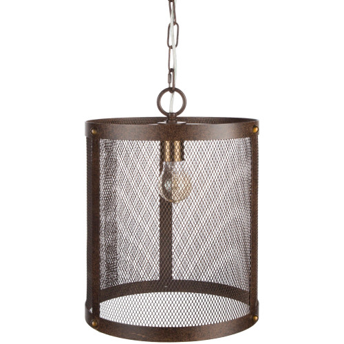 """16.5"""" Antique Style Brown Hanging Light Pendant Ceiling Fixture - IMAGE 1"""