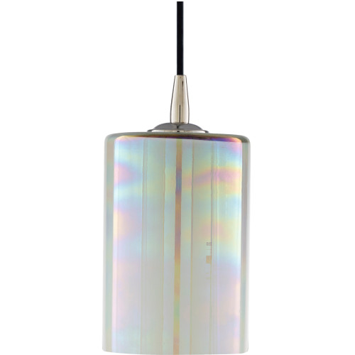 "7.5"" Antiqued Polished Glass Hanging Pendant Ceiling Light Fixture - IMAGE 1"