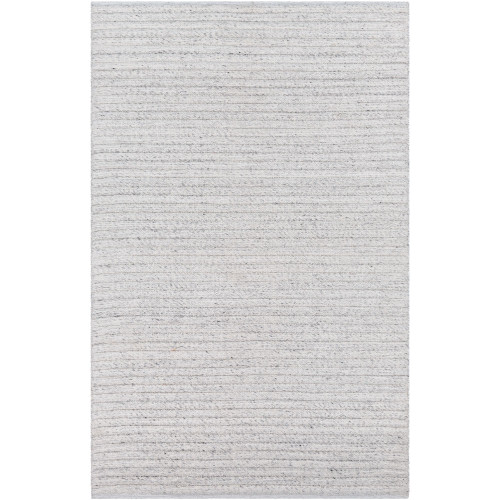 5' x 7.5' Solid Ivory Hand Woven Rectangular Area Throw Rug - IMAGE 1