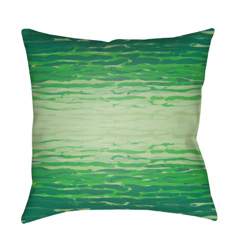 """18"""" Green Wave Patterned Square Pillow Cover with Knife Edge - IMAGE 1"""