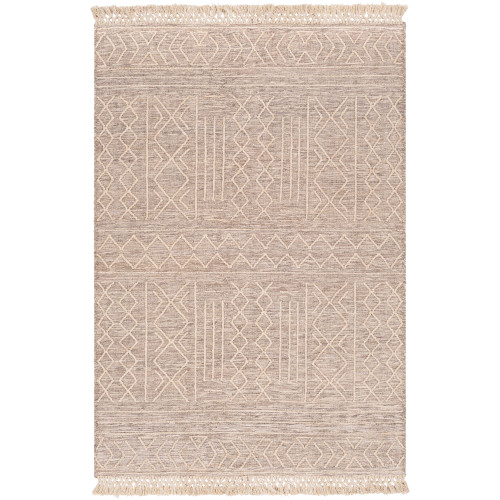 2' x 3' Diamond Patterned Brown and White Area Throw Rug - IMAGE 1