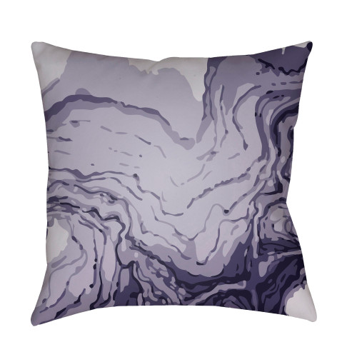 "18"" Purple Square Pillow Cover with Knife Edge - IMAGE 1"