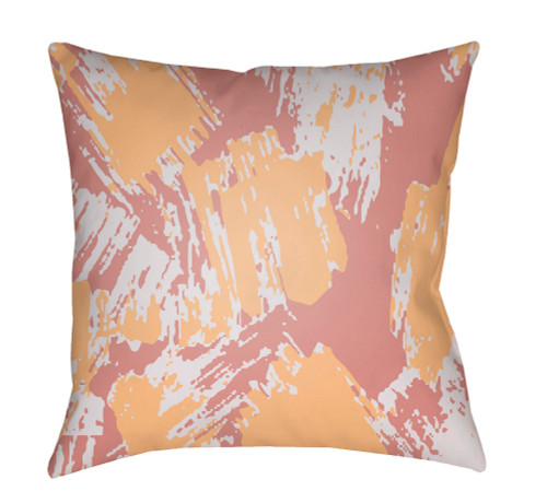 """18"""" Yellow and White Digitally Printed Square Throw Pillow Cover - IMAGE 1"""