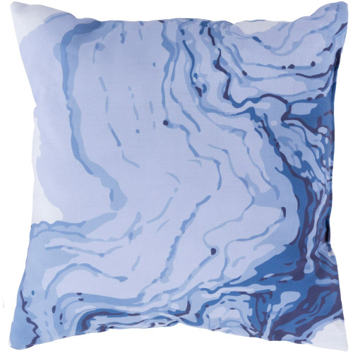"""18"""" Blue Square Pillow Cover with Knife Edge - IMAGE 1"""