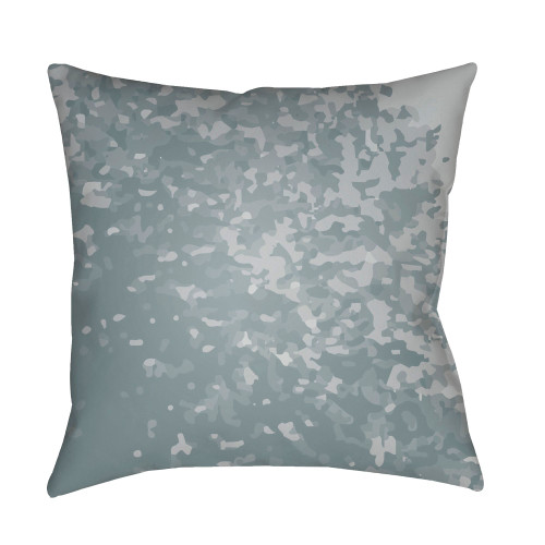 """18"""" Gray and Pale Blue Square Pillow Cover with Knife Edge - IMAGE 1"""
