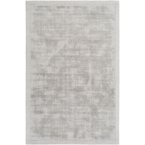 4' x 6' Fossil Gray Solid Rectangular Hand Loomed Area Throw Rug - IMAGE 1