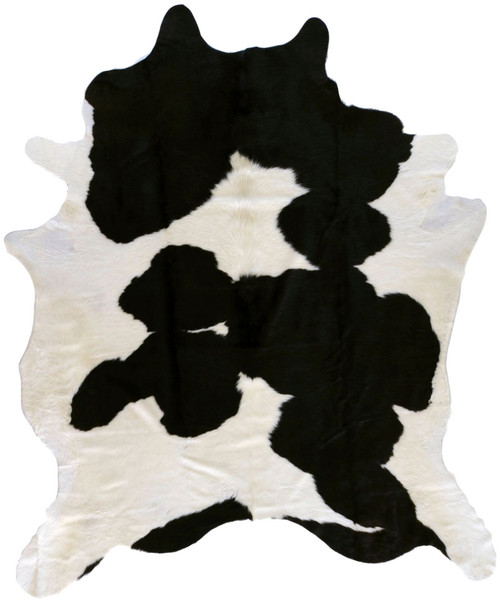 3' x 5' Camel Black and White Cowhide Shaped Hand Crafted Area Throw Rug - IMAGE 1