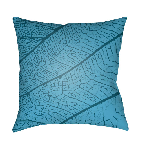 "18"" Sky Blue Square Throw Pillow Cover with Knife Edge - IMAGE 1"