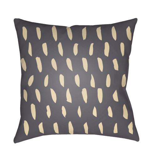 "18"" Gray and Beige Spotted Pattern Printed Square Throw Pillow Cover - IMAGE 1"