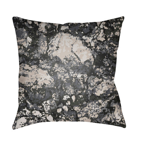 """18"""" Denim Black and Gray Square Throw Pillow Cover with Knife Edge - IMAGE 1"""